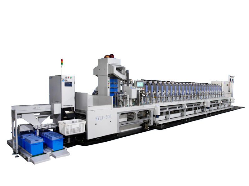 KY Intelligent bobbin feeding system and bobbin recycling system